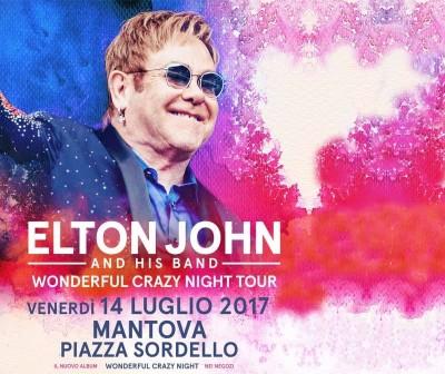 Elton John in a Mantova